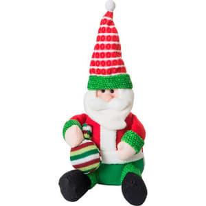 Boneco Papai Noel Sentado Com Saquinho 40cm - Orb Christmas