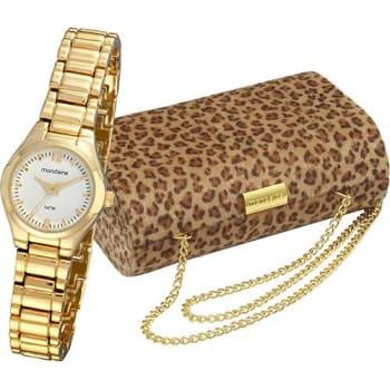 Relógio Feminino Mondaine Analógico Clássico 94515lpmtdm1k2 + Bolsa