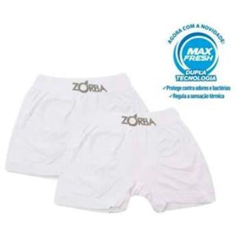 Kit com 2 Cuecas Boxer 781 Zorba - Branca/Branca