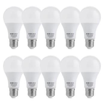 Kit com 10 Lâmpadas LED 7W Ecoforce A60 6500K BrancaEcoforce