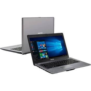 "Notebook Positivo Premium XR7550 Intel Core i3 4GB 500GB Tela LED 14"" Windows 10 - Cinza escuro (Cód. 125569461)"