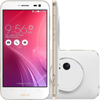 "Smartphone Asus Zenfone Zoom Android Tela 5.5"" 4G 13MP 64GB - Branco"