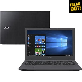 "Notebook Acer E5-574-78LR Intel Core i7 8GB 1TB 15.6"" Windows 10 - Grafite"