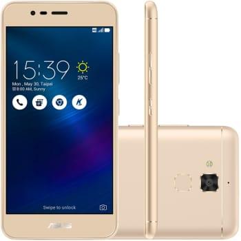 Smartphone Asus Zenfone 3 Max ZC520TL-4G132BR Quad Core, Android 6, Tela 5,2´, 16GB, 13MP, 4G, Dual Chip - Dourado