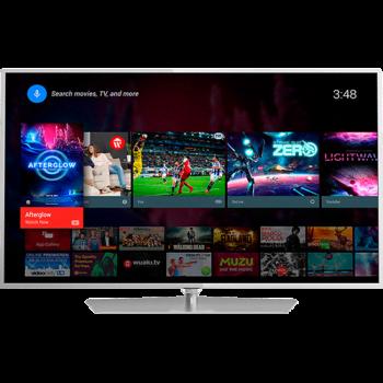 Smart TV LED Android 55'' Philips 55PUG6700/78 Ultra HD 4K com Conversor Digital 3 HDMI 3 USB Wi-Fi 120Hz Dual Core