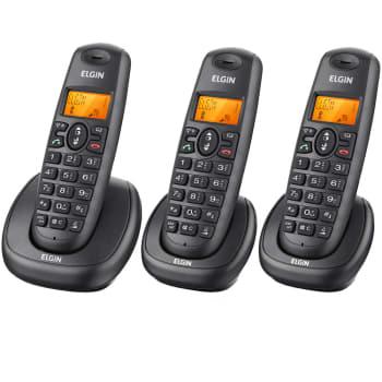 Telefone Sem Fio com Identificador de Chamadas TSF 7003 Elgin