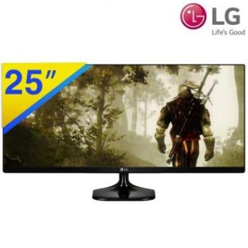 """Monitor Ultrawide LG com Tela LED de 25"""", Painel IPS, Resolução Full HD de 2560x1080, Conexão HDMI, Modo de Leitura e Screen Split - 25UM58"""