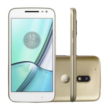 "Smartphone Motorola Moto G 4ª Geração XT1603 Play DTV EE 16GB Branco 4G Tela 5,3"" Câmera 8MP Android 6.0"