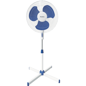 Ventilador de Coluna Catrina Pedestal  Branco Azul 3 Velocidades