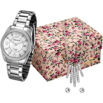 Relógio Feminino Seculus Analógico com Calendário Fashion 28563l0svna2k2
