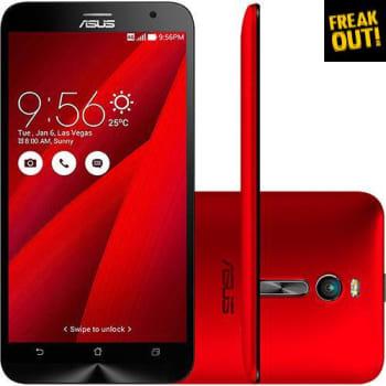 """Smartphone Asus Zenfone 2 32GB Dual Chip Android 5.0 Tela 5.5"""" Wi-Fi Câmera de 13MP Vermelho"""