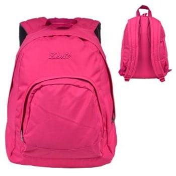 Mochila 1801171412 em Poliéster, Bolso Frontal, Compartimento Interno, Alças Resistentes e Acolchoadas, Pink - Zenit