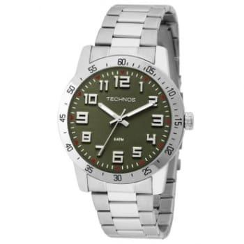 Relógio Technos Masculino, Pulseira de Aço, Caixa de 4,57 cm - 2035LWR1V