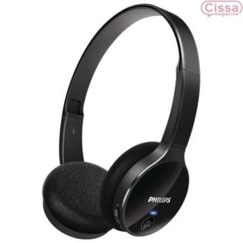 Headphone Philips Wireless Bluetooth com Microfone SHB4000 Preto
