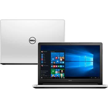 Notebook Dell Inspiron i15-5558-b40 Intel Core i5 8GB (2GB de Memória Dedicada) 1TB Tela 15,6'' Windows 10 - Branco