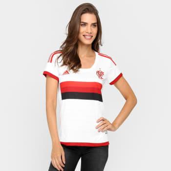 Camisa Feminina Adidas Flamengo II 15 16 s nº em Promoção no Oferta ... 3aecae824c989