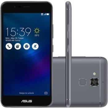 Smartphone Asus Zenfone 3 Max ZC520TL-4H133BR Quad Core, Android 6, Tela 5,2´, 16GB, 13MP, 4G, Dual Chip - Cinza Titânio