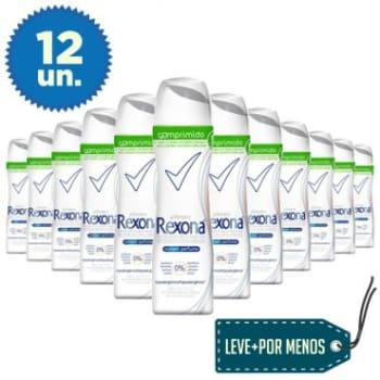 Leve Mais Pague Menos: 12 Desodorantes Aerosol Comprimido Rexona Sem Perfume Feminino 85ml