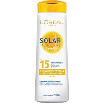 Protetor Solar Expertise Loção FPS 15 200ml - L'Oréal Paris (Cód. 352097)