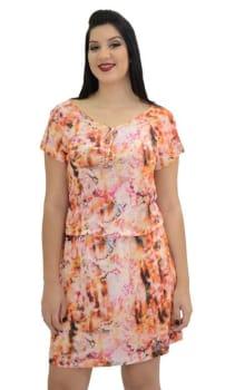 Vestido Energia Fashion Bluse Laranja