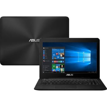 "Notebook Asus Z450UA-WX002T Intel Core i5 4GB 1TB Tela LED 14"" Windows 10 - Preto"