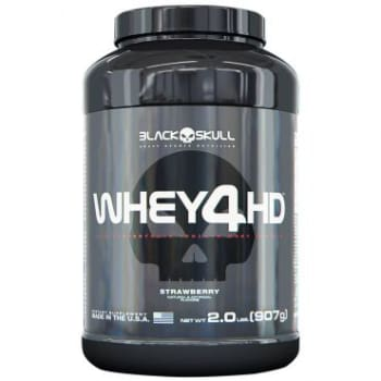Whey 4HD Morango 907g - Black Skull
