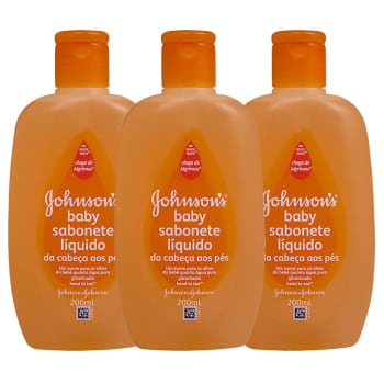 Leve 3 e Pague 2 Johnson's Baby Sabonete Líquido Cabeça aos Pés 200ml