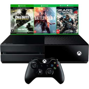 Console Xbox One 500GB + 3 Jogos + Controle Sem Fio