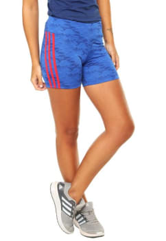 Short ADIDAS Performance Aop Q4 W Azul