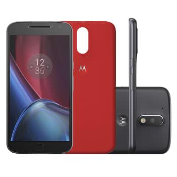 """Smartphone Motorola Moto G 4ª Geração Plus XT1640 32GB Preto 4G Tela 5,5"""" Câmera 16MP Android 6.0"""
