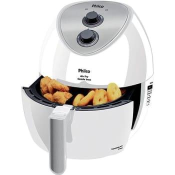Fritadeira Elétrica sem Óleo Philco Air Fry Saúde 3L Inox Branca