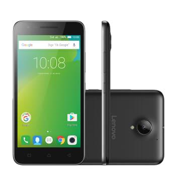 "Smartphone Lenovo Vibe C2 16GB Preto 4G Tela 5.0"" Câmera 8MP Android 6.0"