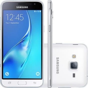 "Smartphone Samsung Galaxy J320m SM-J320M Dual Chip Android Tela 5"" Quad-Core 8GB Câmera 8MP - Branco"