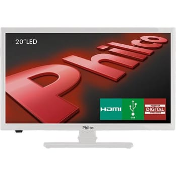 "TV LED 20"" Philco PH20U21DB HD com Receptor Digital 2 HDMI 1 USB 60Hz Branco (Cód. 125160366)"