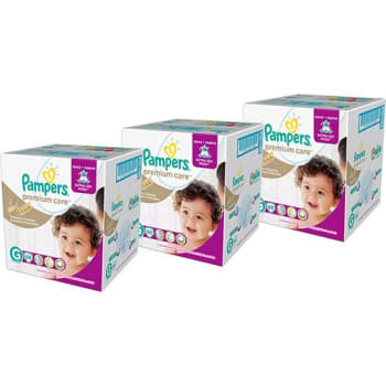 Kit 3 Fraldas Pampers Premium Care Jumbo G - 204 unidades
