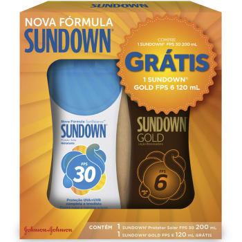 PROTETOR SOLAR SUNDOWN FPS30 200ML GRÁTIS LOÇÃO GOLD FPS6 120ML