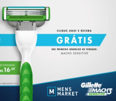 GILLETTE MACH 3 SENSITIVE GRÁTIS