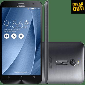 "Smartphone Asus Zenfone 2 Dual Chip Desbloqueado Android 5.0 Lollipop Tela 5.5"" 32GB 4G Wi-Fi Câmera 13MP - Prata"