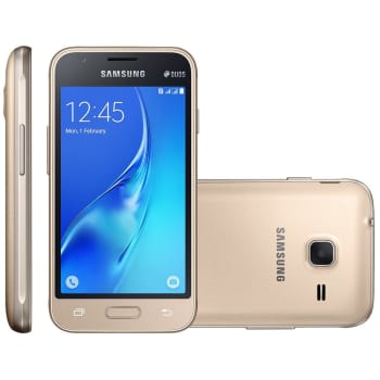 Smartphone Samsung Galaxy J1 Mini, Dual Chip, 8GB, 5MP, 3G, Dourado - J105