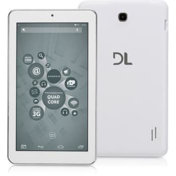 "Tablet DL X Quad Core Tela 7"" Android 5.1 Lollipop 8GB Wi-Fi Branco Quad Core"