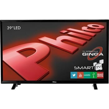 "TV LED 39"" Philco PH39E31DSGW HD 1 USB 2 HDMI Função Smart e Wi-Fi Integrado (Cód. 128692632)"