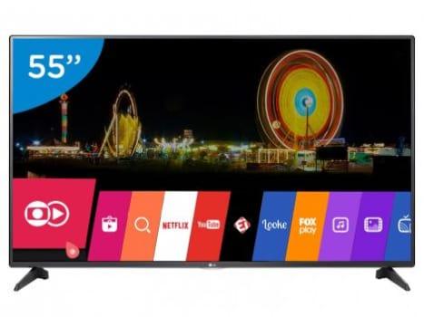 """Smart TV LED 55"""" LG Full HD 55LH5750 - Conversor Digital Wi-Fi 2 HDMI 1 USB"""