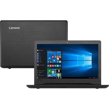 "Notebook Lenovo Ideapad 110 Intel Celeron Dual Core 4GB 1TB Tela 15,6"" Windows 10 - Preto"