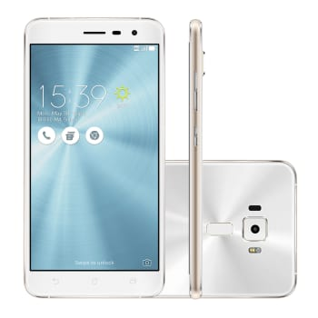 "Smartphone Asus Zenfone 3 Tela 5,5"" 4 GB Branco 64GB 4G 16 MP Android 6.0"