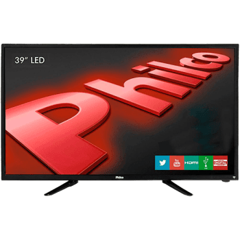 "TV LED 39"" Philco PH39N91DSGW HD com Conversor Digital e Função Smart 2 HDMI 1 USB"