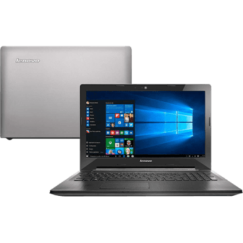 "Notebook Lenovo G50-80 Intel Core i5 8GB (2GB de Memória Dedicada) 1TB Tela LED 15,6"" Windows 10 Bluetooth - Prata"