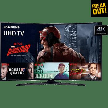 """Smart TV LED 49"""" Samsung 49KU6300 Ultra HD 4K Curva 3 HDMI 2 USB"""