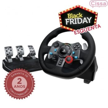 Volante com Pedal Logitech Driving Force G29 para PS3/PS4/PC Preto
