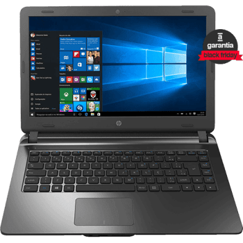 "Notebook HP 14-ap020 Intel Core i3 4GB 500GB Tela LED 14"" Windows 10 Chumbo"
