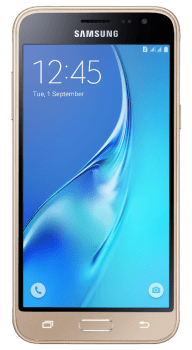 """Smartphone Samsung Galaxy J3 2016 Dual Chip Dourado Tela 5""""Android 5.1 Quad Core Câmera 8Mp 8Gb (Cód: 9258720)"""